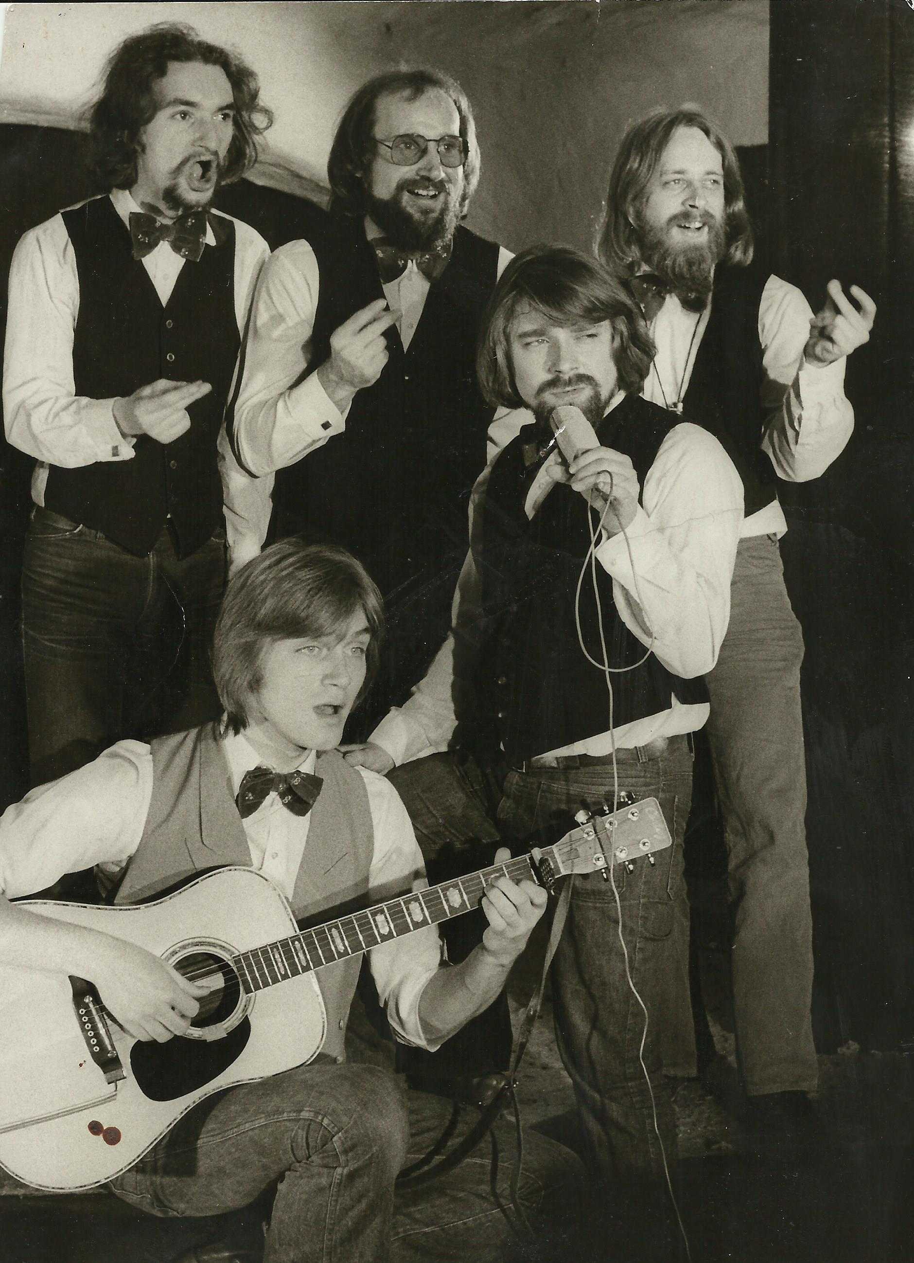 Die zweite 5erBesetzung ca. 1977, mit Harald Wolff an der Gitarre