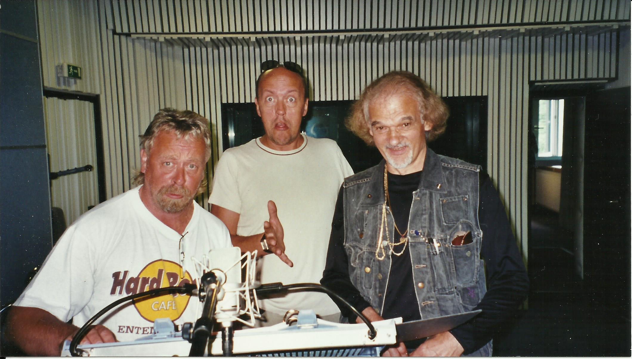 """im Synchronstudio für """"Der kleine Eisbär""""(von links): Beppo Pohlmann, Hans-Werner Olm und Ingo Insterburg sprechen die 3 alten Eisbären"""